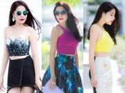 Thời trang Sao - Kiwi Ngô Mai Trang 'bầu bí' vẫn gợi cảm trên phố