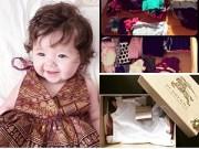 """Nuôi con - """"Choáng"""" với tủ quần áo đồ sộ của con gái Elly Trần"""