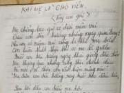 Giáo dục - Bật khóc với bài thơ 'Khi mẹ là giáo viên'