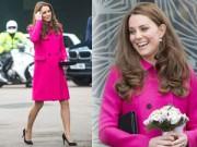 Làng sao - Bà bầu Công nương Kate gượng cười dù đang mệt mỏi