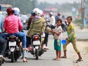 Tin trong nước - Trẻ không biết tiếng Việt bị chăn dắt trên Quốc lộ 1