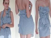 Thời trang - Hô biến áo sơ mi cũ thành váy cực cá tính đón hè