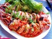 Thực đơn – Công thức - Hấp dẫn với mực nhồi thịt sốt cà chua