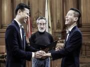 Làng sao - NTK Adrian Anh Tuấn kết hôn với Sơn Đoàn tại Mỹ