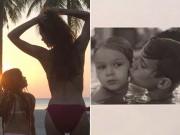 Làng sao - Harper diện bikini khoe dáng cùng mẹ Victoria