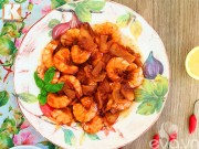 Bếp Eva - Tôm thịt rim sa tế cay vô cùng trôi cơm
