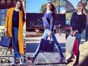 Thời trang - Phạm Hương xinh đẹp năng động đi từ thiện