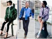 Thời trang - Cá tính mà vẫn dễ thương với áo khoác bomber