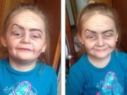 """Clip Eva - Em bé 3 tuổi khóc thét khi được hóa trang thành bà già gây """"sốt"""""""