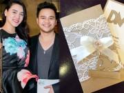 Làng sao - Tiết lộ thiệp cưới của Trang Nhung và ông xã đại gia