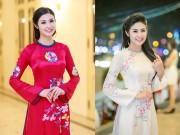 Thời trang - Hoa hậu Ngọc Hân đẹp nhất khi mặc áo dài