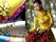 Thời trang - Khảo giá vải may áo dài đón Tết cho chị em Hà thành