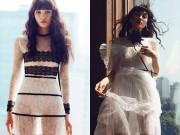 Thời trang - Thùy Trang khoe chân dài 1m15 với váy xuyên thấu