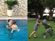 Làng sao - Con trai Thu Minh bị trớ sữa trong ngày đầu tập bơi