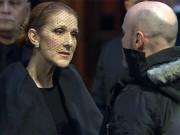 Celine Dion nức nở trong đám tang chồng