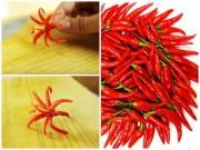 Tỉa hoa từ quả ớt chỉ trong nháy mắt