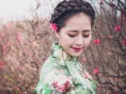 Thời trang - Nữ doanh nhân xinh đẹp lúng liếng với áo dài Xuân