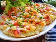 Bếp Eva - Tận dụng cơm nguội thừa làm bánh pizza cơm cháy