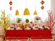 Nhà đẹp - Trang trí bàn ăn nổi bật suốt những ngày Tết