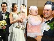 Làng sao - Con gái Trang Nhung dễ thương trong lễ cưới bố mẹ