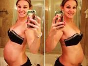 Bụng 6 múi của mẹ bầu 30 tuần gây kinh ngạc