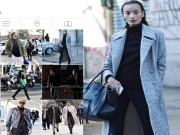 Thời trang - Lê Thúy gây ấn tượng trên đường phố Milan