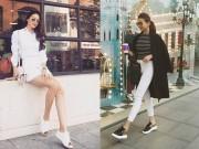 Thời trang - Phạm Hương, Thanh Hằng đi giày thể thao vẫn đẹp phát ghen