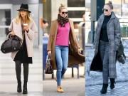 Thời trang - Mỹ nhân Hollywood mặc gì để tránh rét?