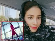 Làng sao - Hoa hậu Phạm Hương rạng rỡ vi vu ở Thượng Hải