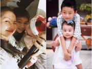 2 cặp anh em nhóc tỳ cùng mẹ khác cha hot nhất showbiz