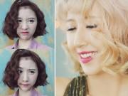Làm đẹp - Học lỏm cách làm điệu cho tóc ngắn như Quỳnh Anh Shyn