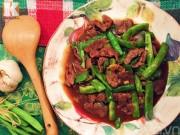 Bếp Eva - Ngon cơm với thịt bò xào đậu sốt dầu hào