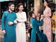 Làng sao - Jennifer Phạm và bạn nhảy Tây mặc áo dài đi sắm Tết