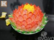 Bếp Eva - Cách làm hoa sen để ban thờ ngày Tết từ kẹo