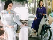 Thời trang - Phương Trinh Jolie lãng mạn với tà áo dài xưa