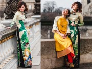 Thời trang - Nao lòng ngắm áo dài Việt tha thướt trên đường phố Paris