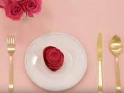 Clip Eva - Gấp hoa hồng từ khăn làm đỏm cho bàn ăn ngày Tết