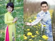 Làng sao - Việt Hương, Quang Hà mặc áo dài dạo phố hoa