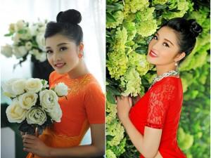 Triệu Thị Hà xinh đẹp trong vườn hoa xuân
