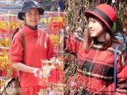 Làng sao - Ngọc Hân rạng rỡ đi chợ Tết cùng em dâu xinh xắn