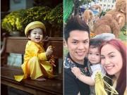 Làng sao - Con trai HH Diễm Hương tóc xoăn đáng yêu ngày Tết
