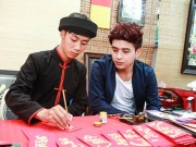 Làng sao - Hồ Quang Hiếu rạng rỡ đi xin chữ đầu năm