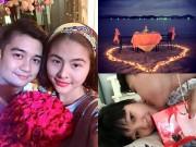 Làng sao - Valentine siêu ngọt ngào của vợ chồng sao Việt
