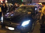 Tin tức - Nghi án đập nát đầu xe Mercedes để... đánh ghen