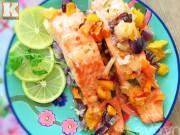 Bếp Eva - Tự nướng cá hồi rau củ tại nhà cực dễ