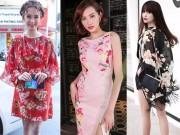 Thời trang - Thích mắt ngắm sao Việt điệu đà với sắc hoa