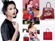 Thời trang - Bóc giá 6 túi xách đỏ tiền tỷ của siêu mẫu Thanh Hằng