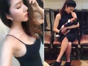 Bà bầu - Nỗ lực giảm 13kg sau sinh 1 tháng của Ngọc Quyên