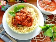 Cách làm sốt spaghetti ngon hoàn hảo