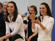 Làng sao - Công nương Kate cười thả ga trong phòng tập